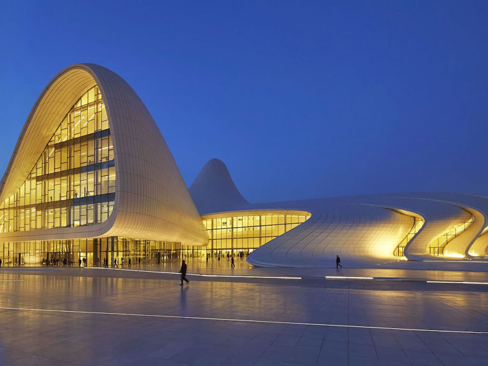 Heydar-Aliyev-Center-at-night-azerbaijan