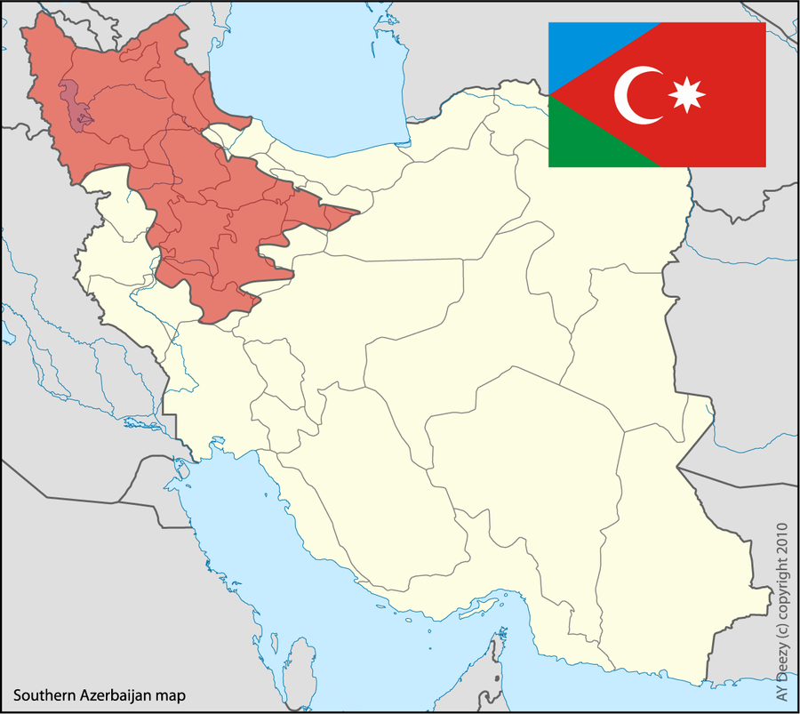 South Azerbaijan map